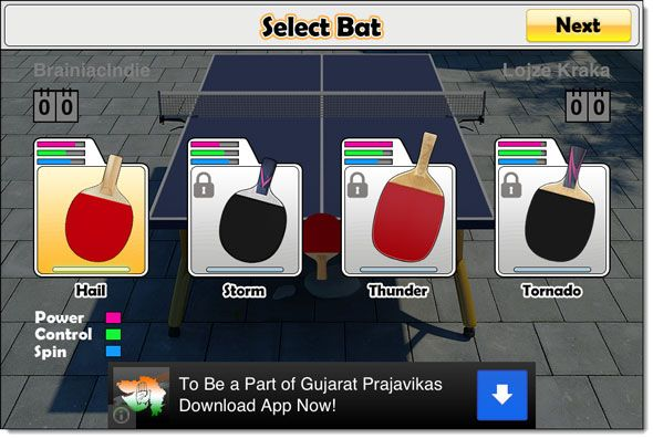free ping pong for ipad