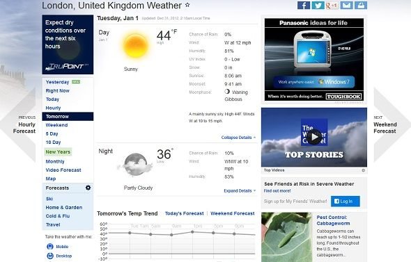 What Are The Best Weather Websites? weather com screenshot