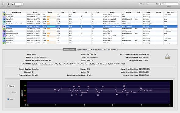 wifi explorer1   WiFi Explorer: Scan, Find & Diagnose Wireless Network Problems With This Mac OSX App (35 Free Licenses)
