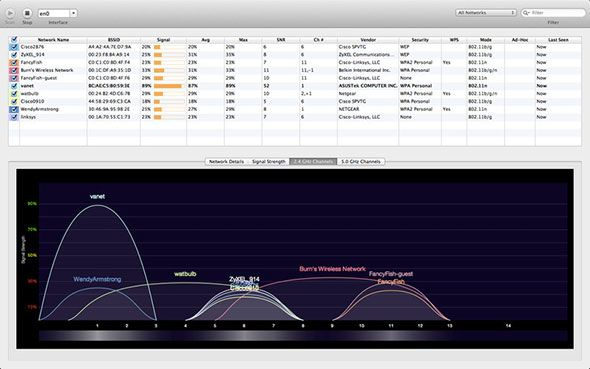 wifi explorer2   WiFi Explorer: Scan, Find & Diagnose Wireless Network Problems With This Mac OSX App (35 Free Licenses)