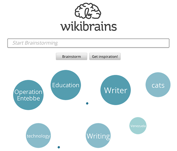 wikibrains1   WikiBrains: A Brainstorming Tool To Help You Collect Information and Get Inspired