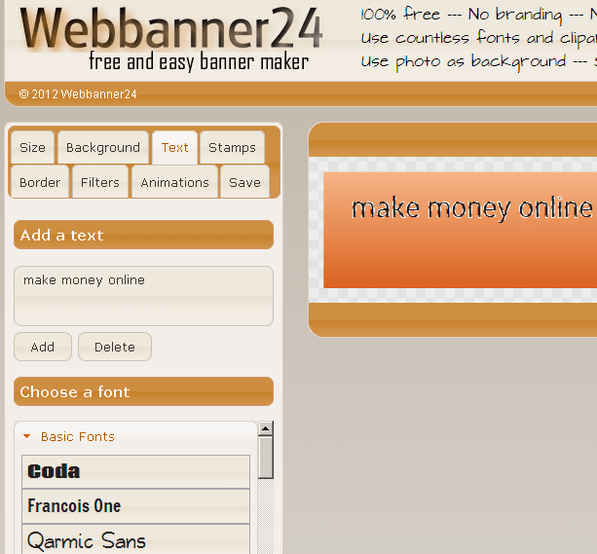 web based banner maker