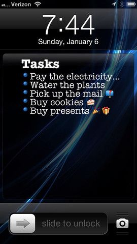 task list as wallpaper