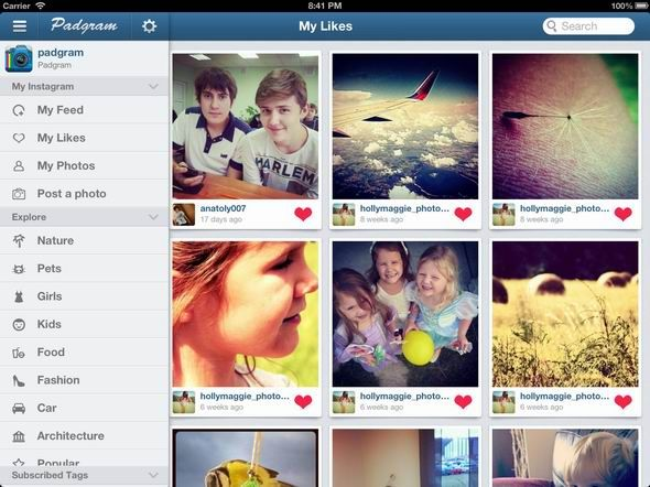 13   Padgram: An Instagram Viewer For iPad