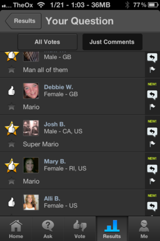 2013 01 21 13.03.24   Thumb: Get Opinions From Real People In Minutes [iOS]
