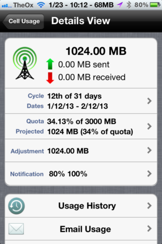 Use Data Master To Keep Track Of Your iPhone's Data Usage [iOS, Free For A Limited Time] 2013 01 23 10