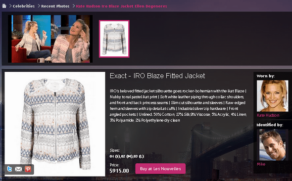 23   CBuy: Locate & Buy Clothing Items Worn By Celebrities On TV & Photos