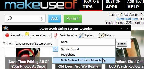 Audio   Apowersoft Online Screen Recorder: An Online Java Application To Help You Record Screencasts