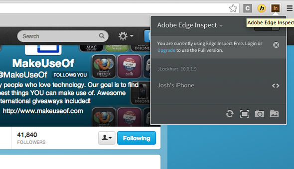 Chrome   Adobe Edge Inspect: Preview Web Designs On Your Mobile Device