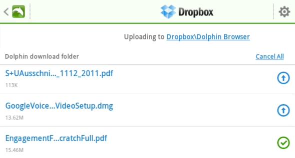 dropbox app for android