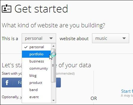 create a free mobile site