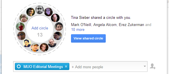 how to use google circles
