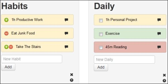 Habits   HabitRPG: Monitor Your Goal Progress Daily & Earn Rewards Like a Role Playing Game