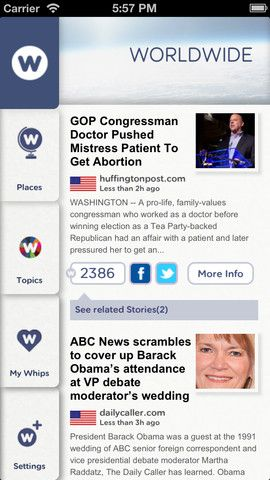 NewsWhip   NewsWhip: Get Interesting Global News Covering Various Topics [iOS]