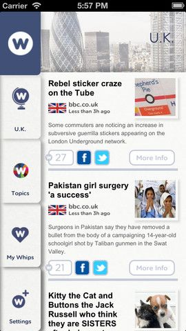 NewsWhip1   NewsWhip: Get Interesting Global News Covering Various Topics [iOS]