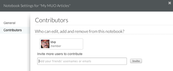 share notebook evernote