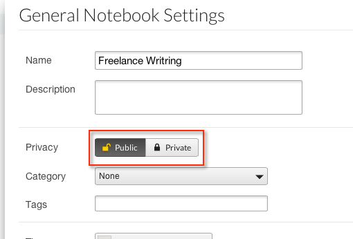 how to share a notebook in springpad