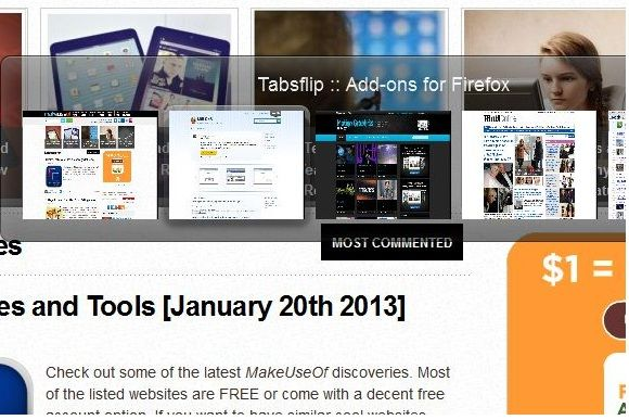 TAbsflip   Tabsflip: Switch Tabs Like Aero Switches Windows [Firefox]