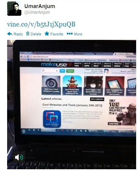 Vine: Record 6 Second Looping Clips & Share Them With Friends Online Twitter