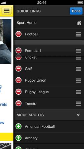 bbc sports app