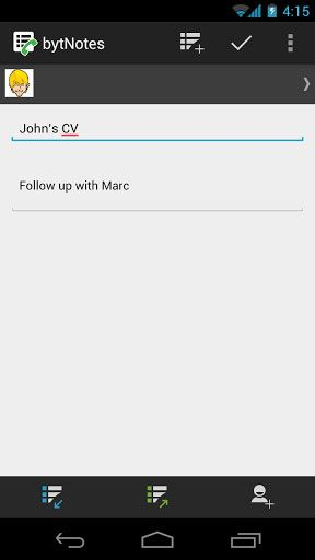 bynotes   bytNotes: Store Notes & Associate Them With Contacts [Android 2.1+]