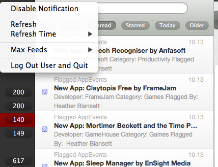 google reader client mac