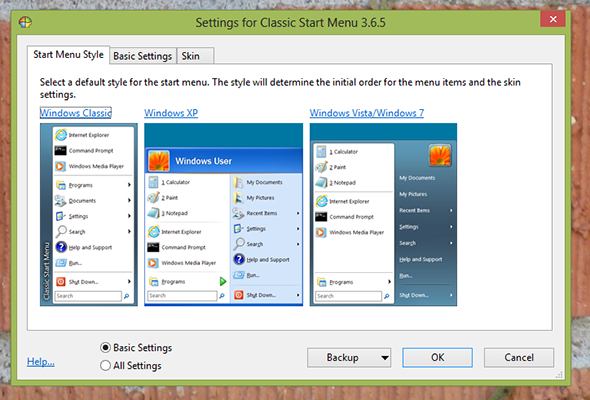 Classic Shell Start Menu