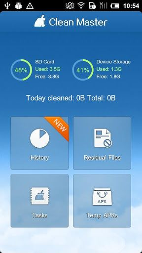 cleanmaster1   Clean Master: Clean Your Phone & Make It Run Faster [Android 1.6 & Up]