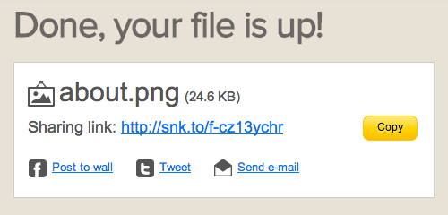 done   FileSnack: Upload & Share Files Without The Distractions