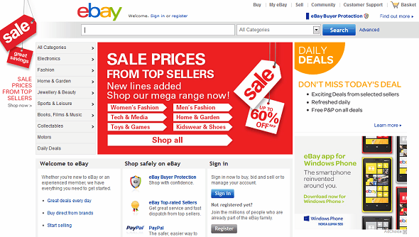 7 Most Important Websites We Can't Live Without ebay homepage