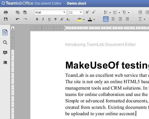 editor1   TeamLab: A Comprehensive Online Document Editor Based On HTML 5