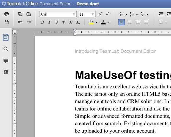 editor1   TeamLab: A Comprehensive Online Document Editor Based On HTML 5