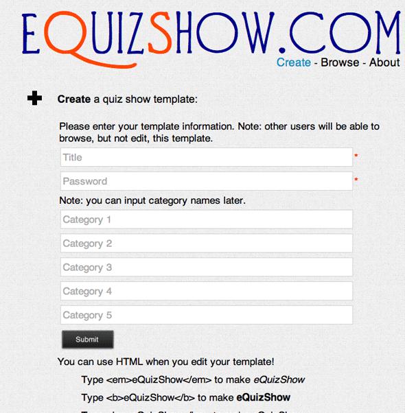 create quiz show