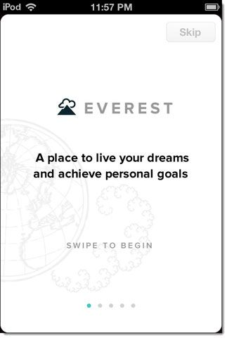 Keep Your Life Goals In Sight By Breaking Them Down Into Small Increments On Everest [iOS] everest01