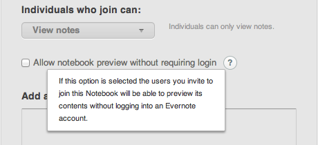 how to share notebook in evernote