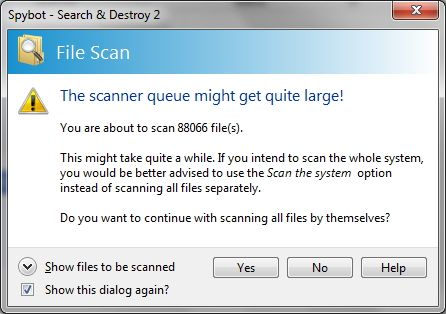 Spybot - Search & Destroy: The Simple, Yet Effective Route For Cleaning Your PC Of Malware file scan large
