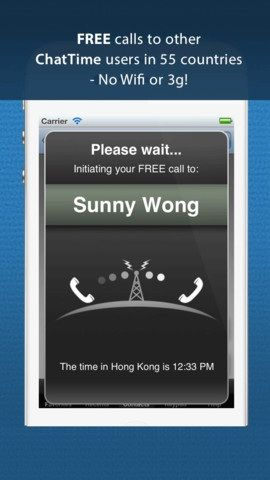 free   ChatTime: Make Free & Cheap Calls Everywhere In The World [iOS]