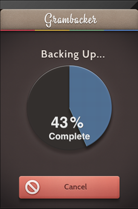 backing up instagram