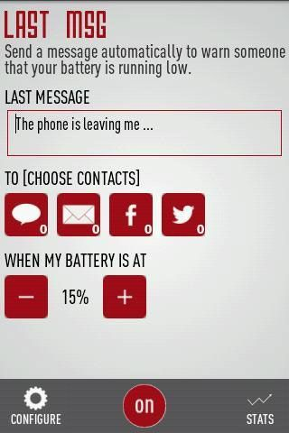 last message   Last Message: Notify Contacts That You Are Unreachable After Your Phone Battery Gets Low [Android]