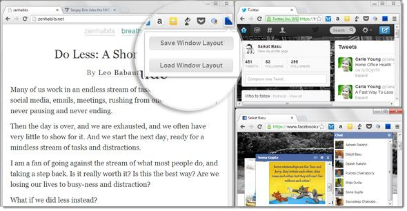 Save & Reload Your Browser Tabs Just The Way You Like It With Layout Manager [Chrome] layout manager02