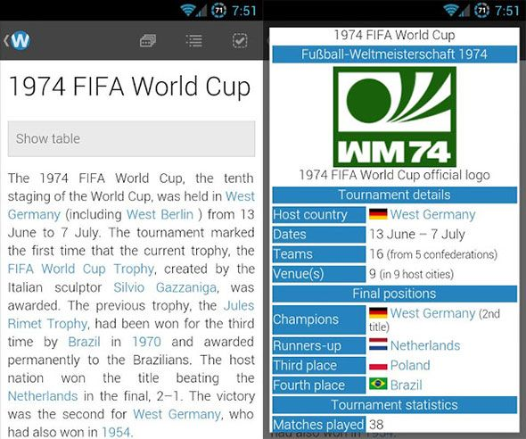 wikipedia on android phone