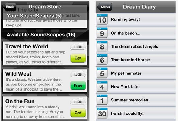 iphone dream app