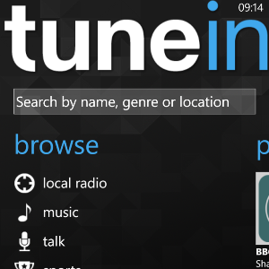 Enjoy Podcasts, Music, Talk & Sport On Windows Phone With TuneIn Radio