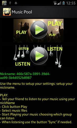 broadcast music android