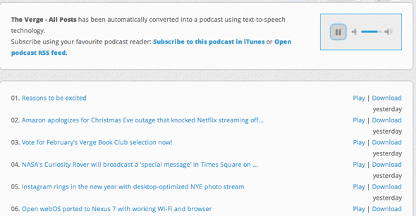 podcastomatic 1   Podcastomatic: Convert Website Content Into Podcasts