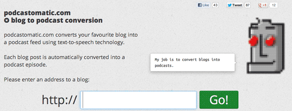 podcastomatic 2   Podcastomatic: Convert Website Content Into Podcasts