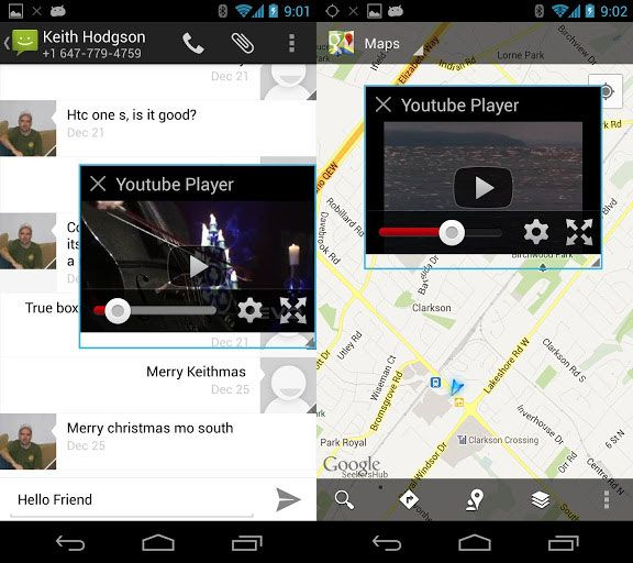 floating youtube popup video for android