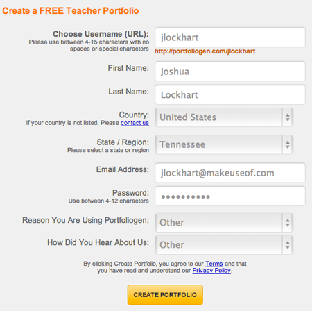 profile   Portfoliogen: Create A Teacher Profile For Prospective Employers