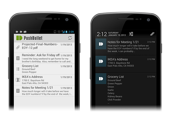 Pushbullet For Android Push Files More To Your Android Phone From