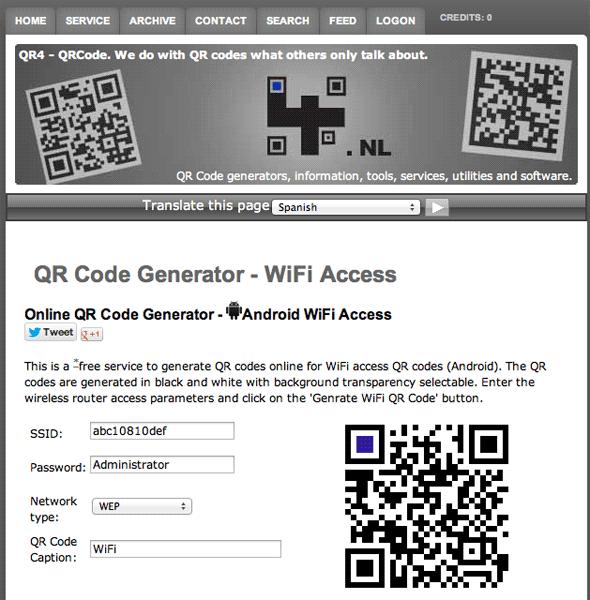 wifi access qr code